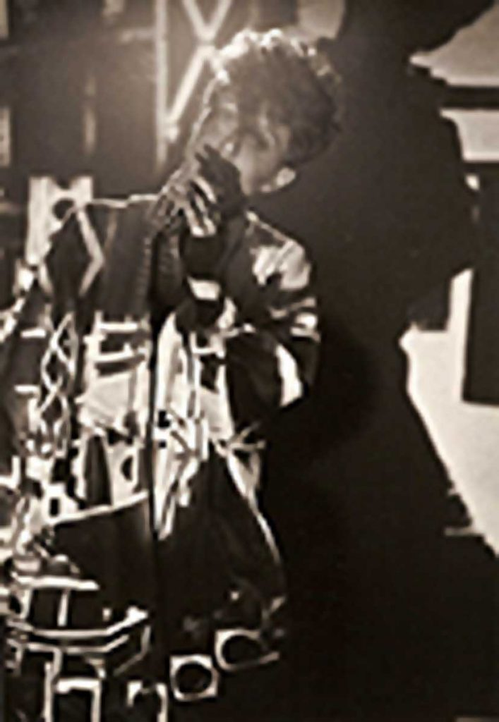 Marina deBellagente LaPalma performing at LACE (Los Angeles Contemporary Exhibitions) 1985